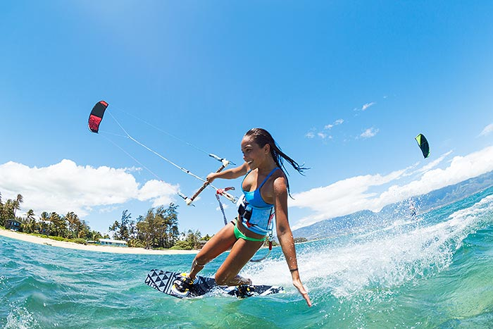 Maui kite boarder