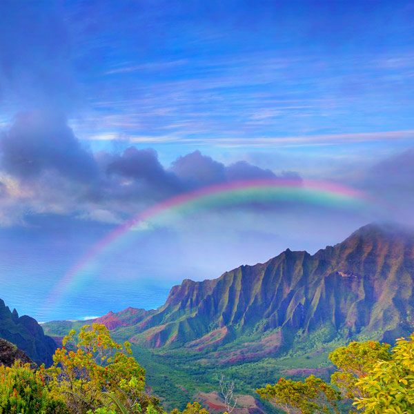 Rainbow in Kalalau Valley, Kauai
